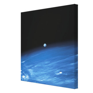 Space and the Earth Canvas Print