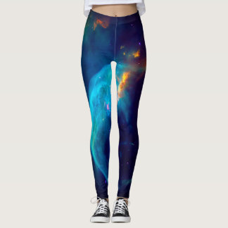Space Anomaly Colorful Galaxy Leggings