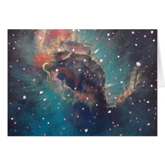 Space Art / Astronomical Art - Carina Nebula Jet Card