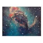 Space Art / Astronomical Art - Carina Nebula Jet Post Card