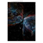Space Art Butterfly Nebula Astronomical Painting Cards