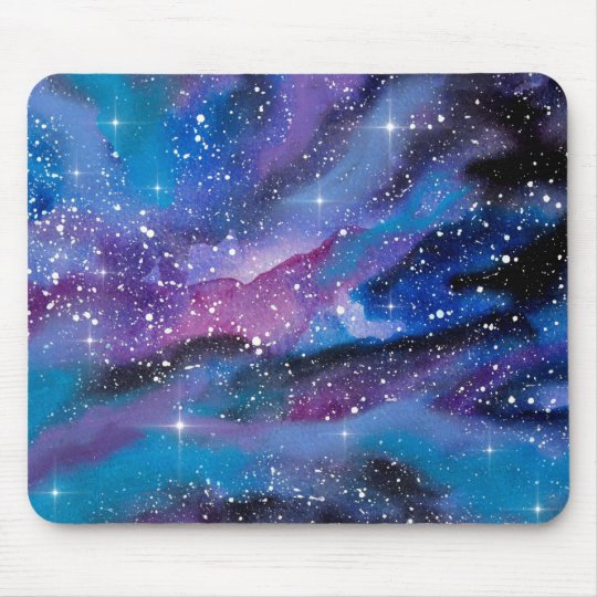 Space Art Watercolor Galaxy Mouse Mat