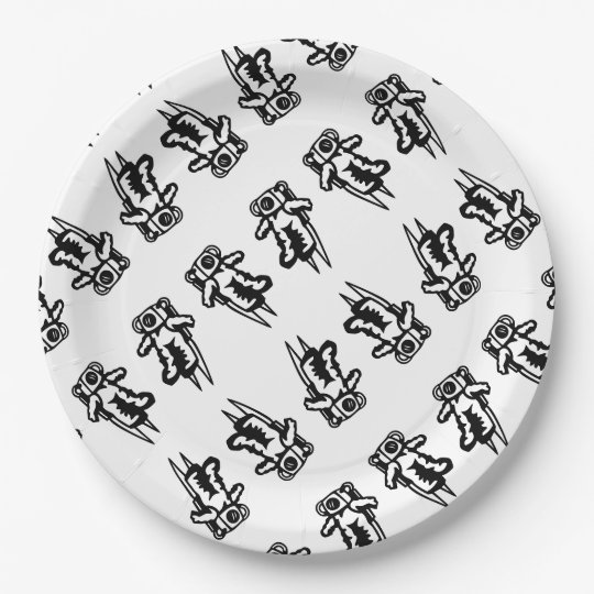 Space Astronaut Cosmonaut Cartoon back to school 9 Inch Paper Plate