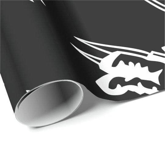 Space Astronaut Cosmonaut Cartoon Wrapping Paper