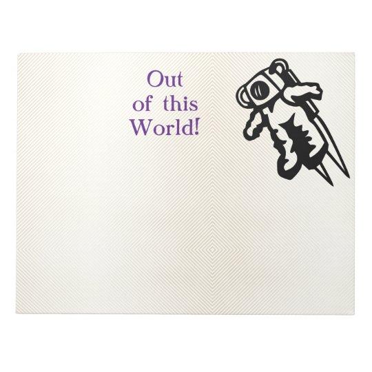 Space Astronaut Cosmonaut Encouragement Notepads