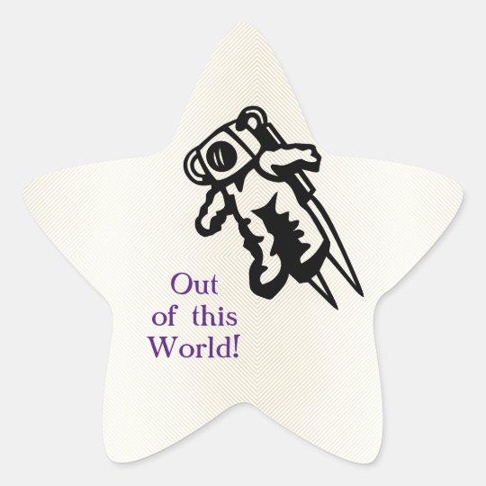 Space Astronaut Cosmonaut Encouragement Star Sticker