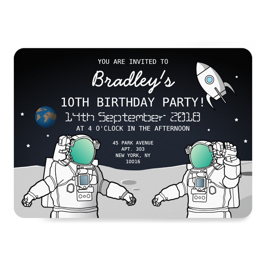 SPACE ASTRONAUT ROCKET BIRTHDAY PARTY