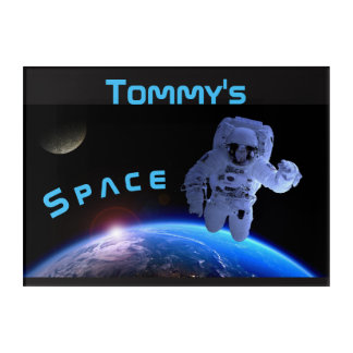 Space Astronaut Wall Art Name