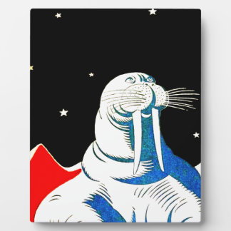Space Astronaut Walrus Plaque