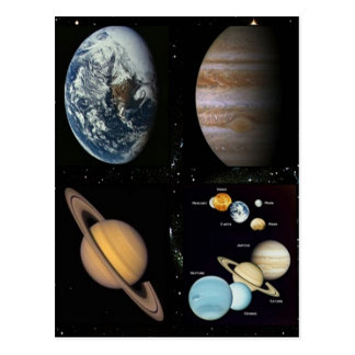 Space astronomy collage print postcard