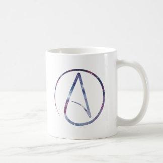 Space Atheist Symbol Basic White Mug