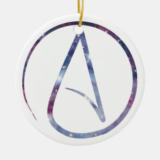 Space Atheist Symbol Christmas Ornament