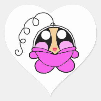 Space Baby Poe Heart Sticker