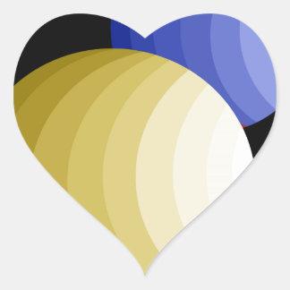 Space balls heart sticker