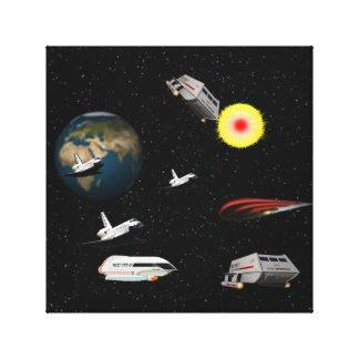 space battle by highsaltire canvas print