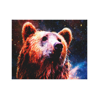 Space Bear Stretched Canvas Prints