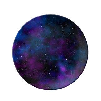 Space beautiful galaxy night starry  image plate