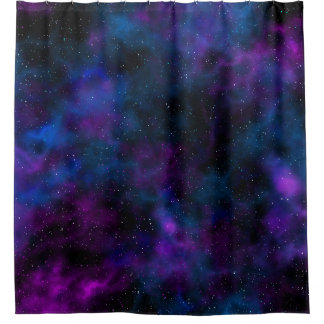 Space beautiful galaxy night starry  image shower curtain