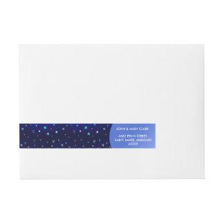 Space beautiful galaxy night starry  pattern wraparound address label
