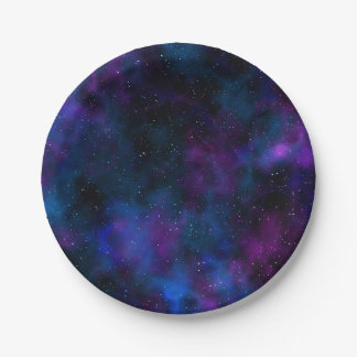 Space beautiful galaxy starry night image 7 inch paper plate