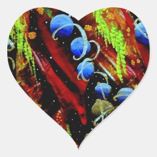 Space Berries Heart Sticker