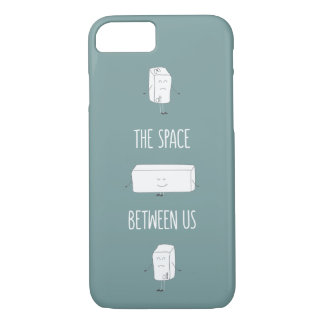 Space between us funny doodle quote iPhone 7 case