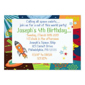 Space Birthday Invitation