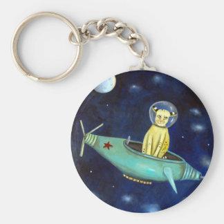 Space Bob Basic Round Button Key Ring