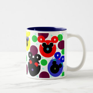Space Bubble Bears Two Toned Mug