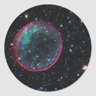 Space Bubble Classic Round Sticker