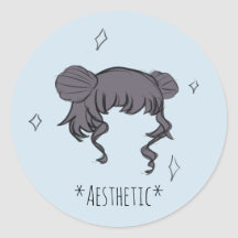 Space Aesthetic Stickers Labels Zazzle Uk