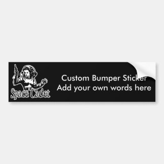 Space Cadet Black & White Bumper Sticker