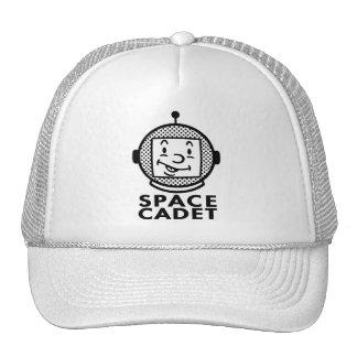 SPACE CADET - black & white Cap