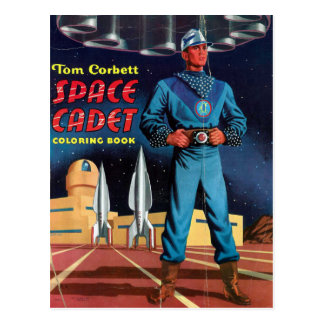 Space Cadet Coloring Book Post Cards