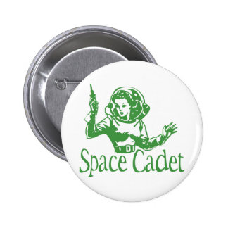 Space Cadet Green 6 Cm Round Badge