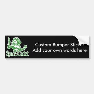 Space Cadet Green Bumper Sticker