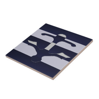 Space Cadet Grey Anchor Tile