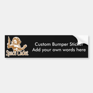 Space Cadet Orange Bumper Sticker