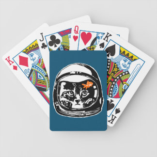 Space cat and the goldfish bicycle playing cards