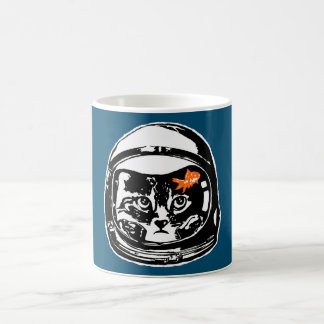 Space cat and the goldfish coffee mug