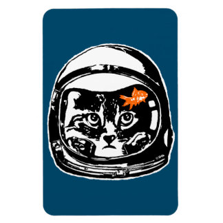 Space cat and the goldfish magnet