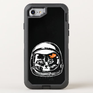 Space cat and the goldfish OtterBox defender iPhone 8/7 case