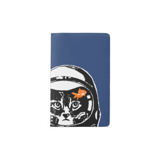 Space cat and the goldfish pocket moleskine notebook