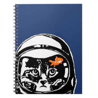 Space cat and the goldfish spiral note books