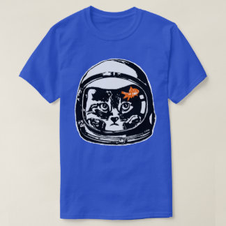 Space cat and the goldfish T-Shirt