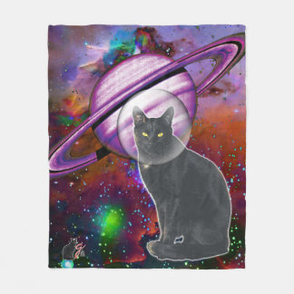 Space-Cat Cosmo Fleece Blanket
