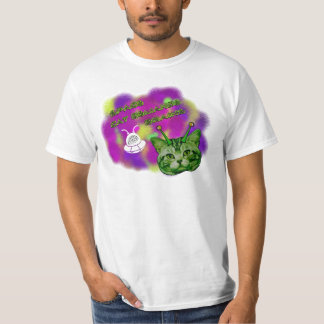 Space Cat Demands Brains T-Shirt