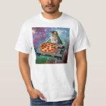 Space Cat DJs Pizza T-Shirt