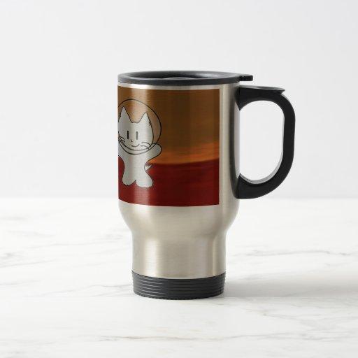 Space Cat Goes To Mars Coffee Mugs