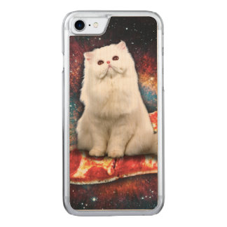 Space cat pizza carved iPhone 8/7 case